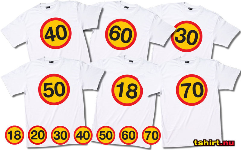 50 års överraskning 50 års skylt   tryck på vit T shirt! 50 års överraskning